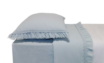 Picture of Jogo Cama 240x280 Azul Celeste FOLHO+RENDA 3Pcs Alg. St.wash