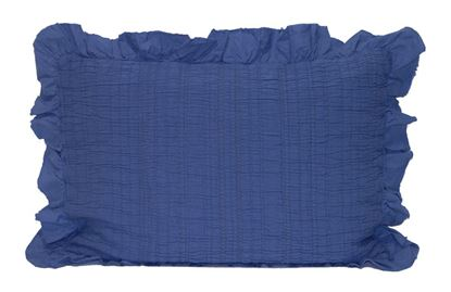 Picture of Almofada INÊS 50x70 c/Folho Azul Denim Alg.Stonewash