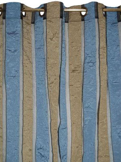 Picture of Par Cortinas 140x250 Azul Organza Poliester