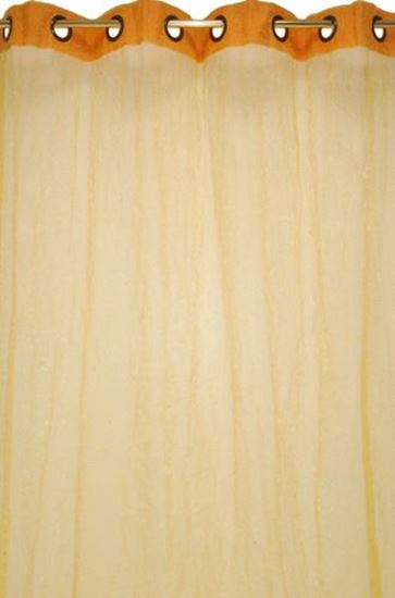 Picture of Par Cortinas 140x250 Organza Amarelo