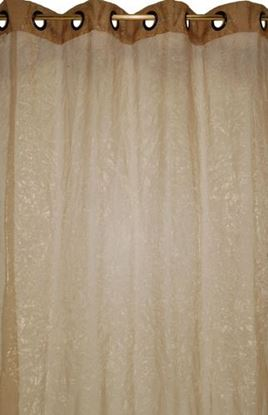 Picture of Par Cortinas 140x250 Organza Bege Esc.