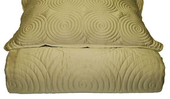 Picture of Colcha Espiral 180x260 c/ Almof.50x70 Verde Esm. Seda Falsa