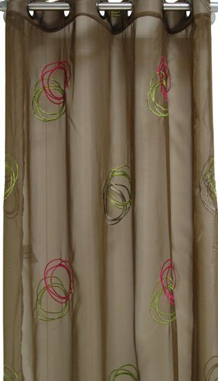 Picture of Par Cortinas 140x250 Khaki/Rosa Velho