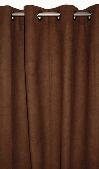Picture of Par Cortinas 140x250cm Camurça Chocolate