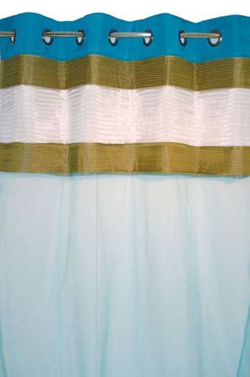 Picture of Par Cortinas 140x250 Azul Mar/Verde/Branco