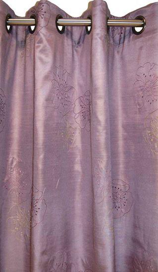 Picture of Par Cortinas 140x250 Flores Lavanda