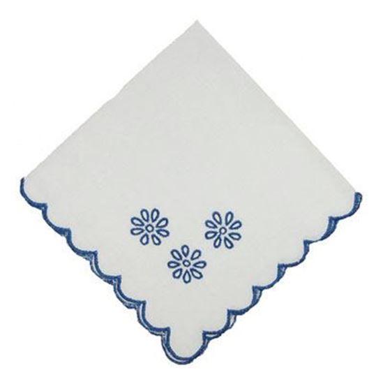 Picture of Par Guardanapos 40x40cm Azul Alg.