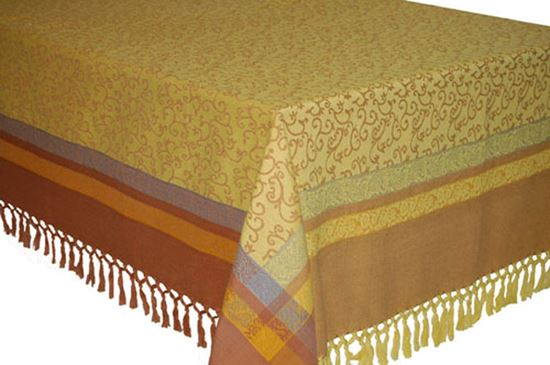 Picture of Toalha Mesa 150x150 Amarela Alg.