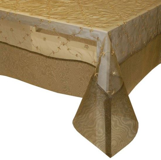 Picture of Toalha Mesa 170*270cm Bronze Organza de Seda