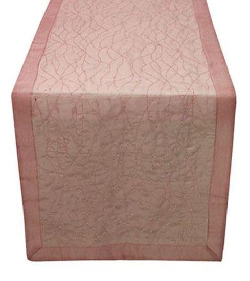 Picture of Par Centros Mesa 40x180cm Rosa Organza Seda