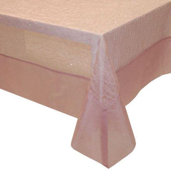 Picture of Toalha Mesa 150*250 Rosa Organza Seda