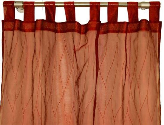Picture of Par Cortinas 140x250cm Bordeaux Organza de Seda