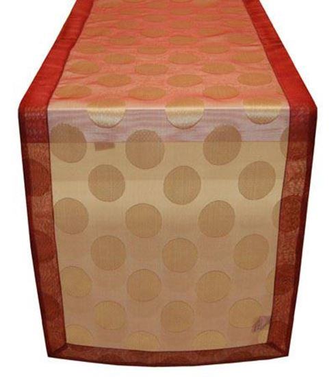 Picture of Par Centros Mesa 40x180cm Bordeaux/ Bege Seda