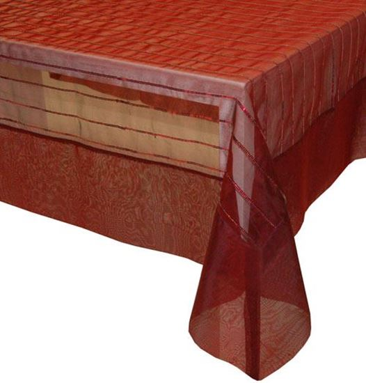 Picture of Toalha Mesa 170x270cm Bordeaux Seda