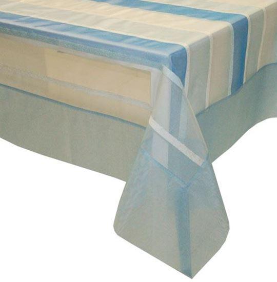 Picture of Toalha Mesa 150*150cm Azul Organza Seda