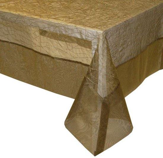 Picture of Toalha Mesa 150x150cm Bronze Seda