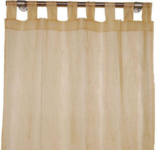 Picture of Par Cortinas 140x250cm Bege Organza de Seda