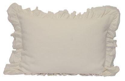 Picture of Almofada Antoinette 50x70 Marfim c/ Folho Alg.Stonewash