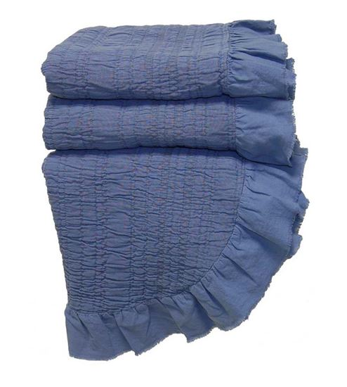 Picture of Colcha INÊS 220x260 c/Folho Azul Denim Alg.Stonewash