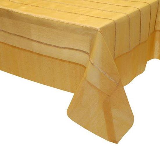 Picture of Toalha Mesa 150*150 Dourado Organza Seda