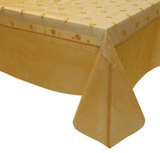 Picture of Toalha Mesa 200*200 Dourado Organza Seda