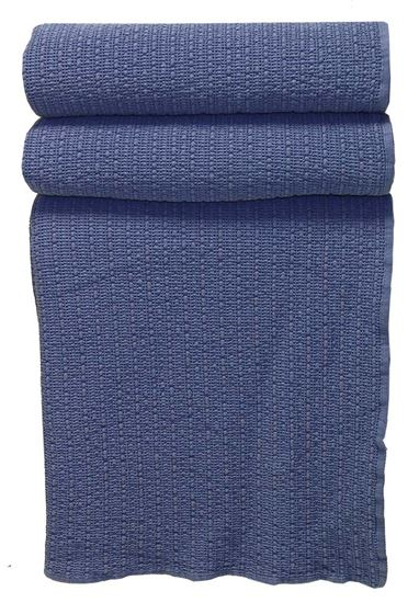 Picture of Colcha STOCKOLM 270x260 Azul Denim c/Galão Alg.Stonewashed