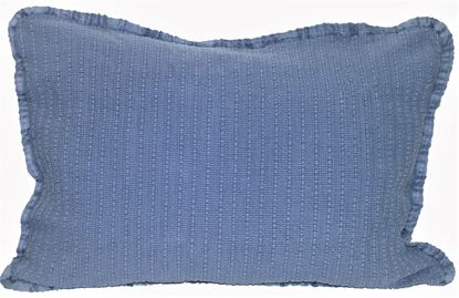 Picture of Almofada STOCKOLM 50x70 Azul Denim c/Galão Alg.Stonewashed