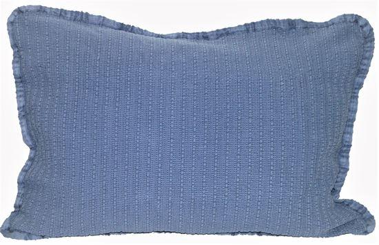 Picture of Almofada STOCKOLM 50x70 Azul Denim c/Galão Alg.Stonewashed