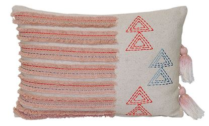 Picture of Par Almofadas 30x45 Rosa Pálido c/Borlas Tie Dye