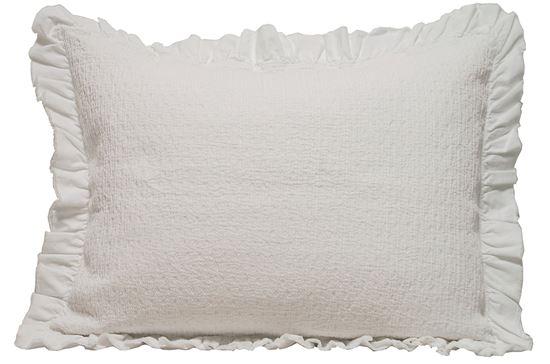 Picture of Almofada LUCY 50x70 Branco c/ Folho Alg./Poly Stonewash