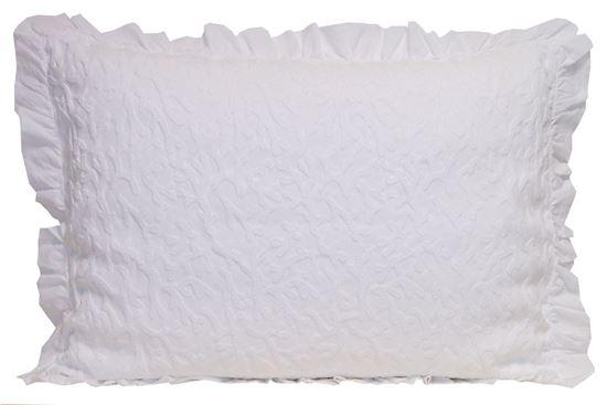 Picture of Almofada CORAL 50x70 Branco c/Folho Stone wash