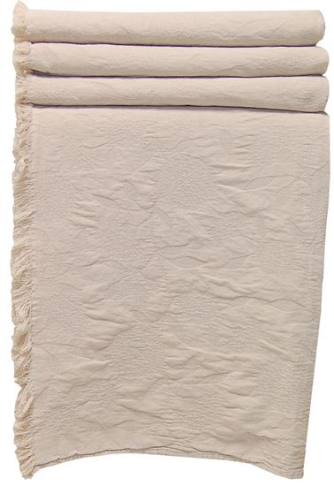 Picture of Colcha PEÓNIA 180x260 Bege c/Franja Alg.Stone wash