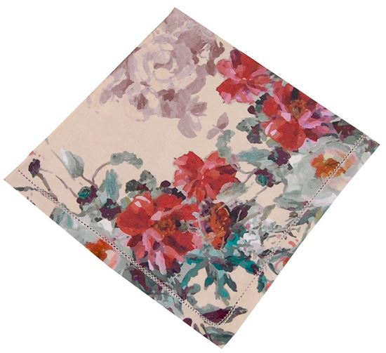 Picture of Cj6 Guardanapos FLORALS 50x50 Ptº Aberto Alg. 300TC