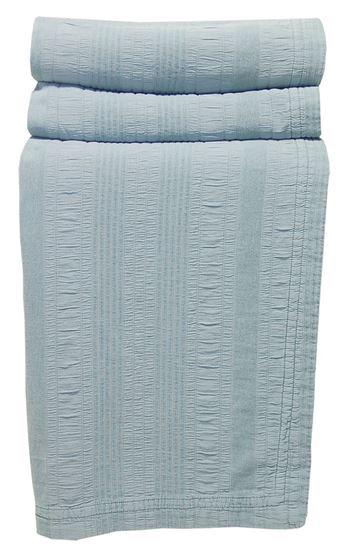 Picture of Colcha LINES 180x270 Azul Prata c/Baínha Alg. Stone wash