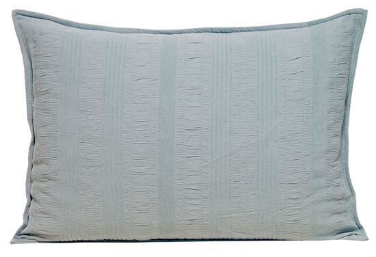 Picture of Almofada LINES 50x70 Azul Prata Alg. Stone wash