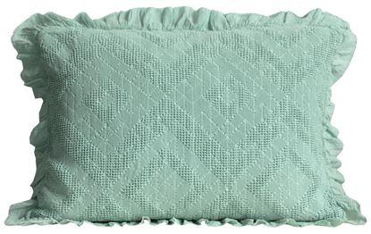 Picture of Almofada SANTORINI 50x70 Verde Salva c/Voile Alg.