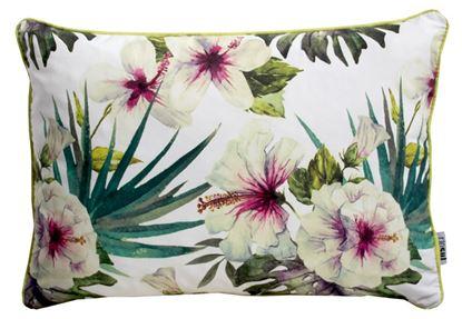 Picture of Par Almofadas 35x50 Hibiscus Brancos