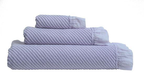 Picture of Jogo Banho VOILE Lavanda 3Pçs 100% Alg. Garment Dye