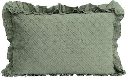 Picture of Almofada CAPRI Verde 50x70+Folho&Renda Alg.Stone wash