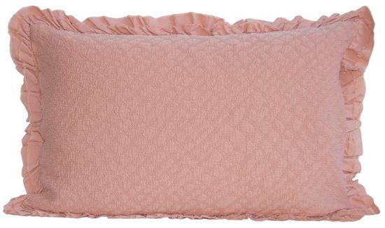 Picture of Almofada CRETA 50x70 + Folhos Duplos Rosa Alg. Stone wash